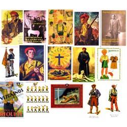 Lote postales carlistas