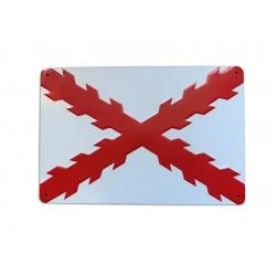 Placa decorativa Cruz de...